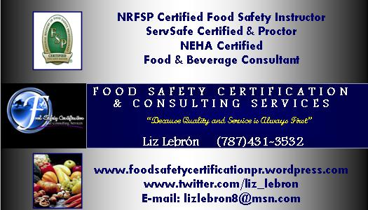 how to become a food safety consultant