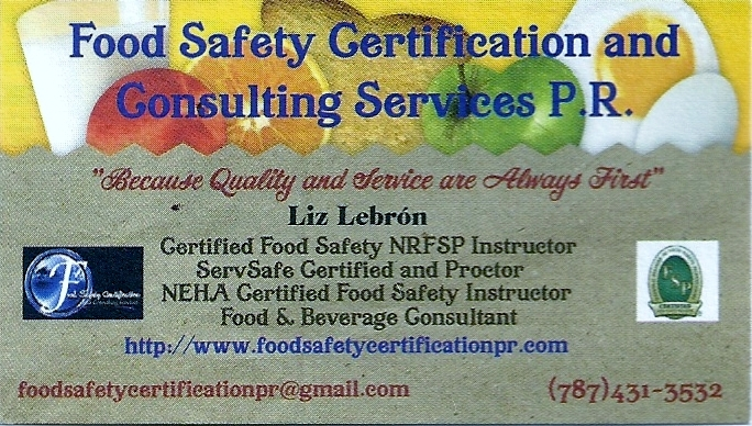 Business card food safety certification consulting services business card colourmoves