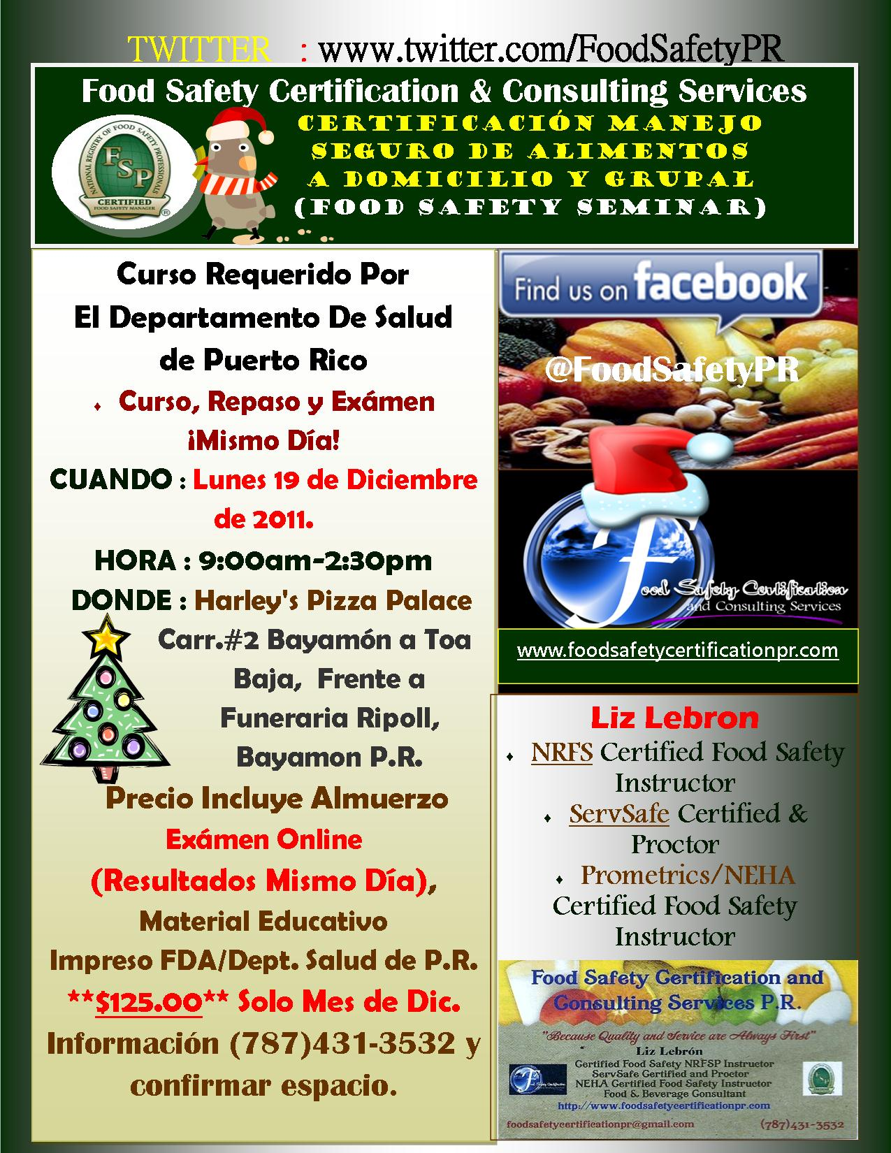 Certification Food Safety Fran E A As